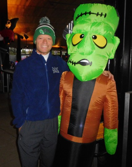 Monster Dash 2016 in St. Paul - Frankenstein and me. I'm the one on the left