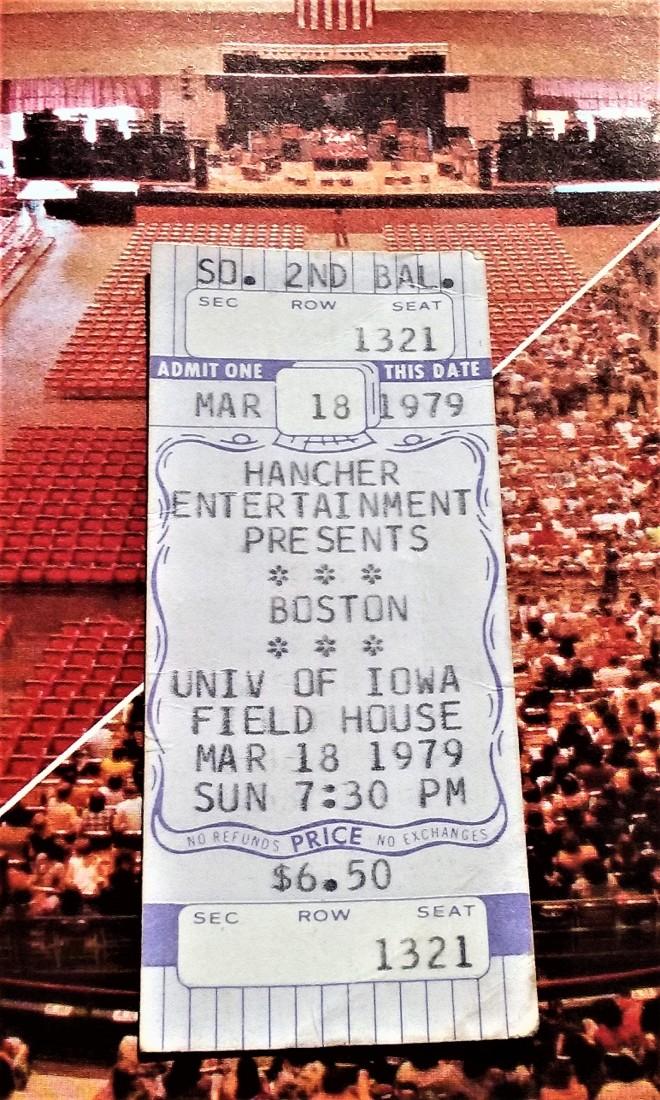 Boston 1979 tour program w-tic to show-1